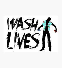 Wash Lives Photographic Print
