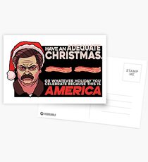 A Ron Swanson Christmas V.2 Postcards