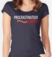Vote Procrastination Women's Fitted Scoop T-Shirt