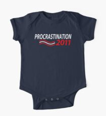 Vote Procrastination One Piece - Short Sleeve