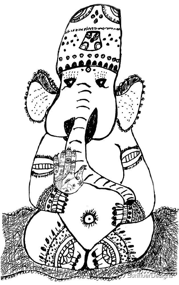 Ganesh Elephant Success Deity by SunfluerDesigns