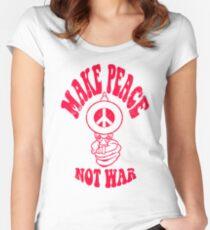 Make Peace Not War logo Women's Fitted Scoop T-Shirt