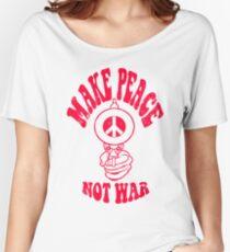 Make Peace Not War logo Women's Relaxed Fit T-Shirt