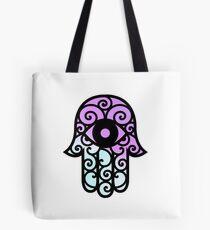 Hamsa Purple/Blue Tote Bag