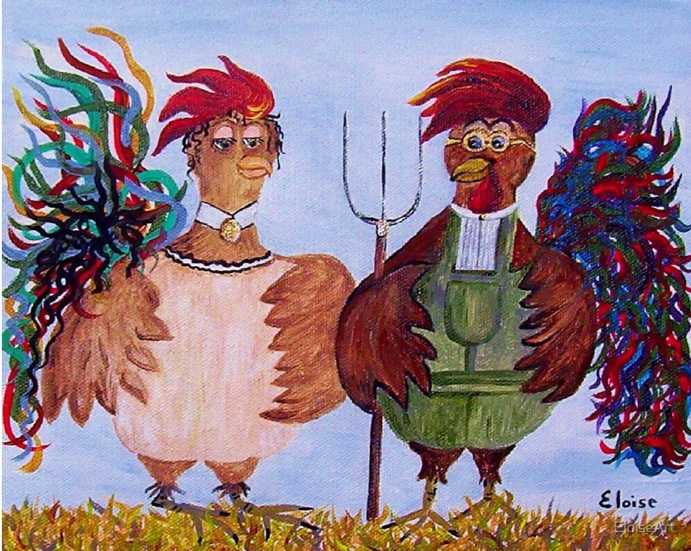 American Gothic - Down on the Farm by EloiseArt