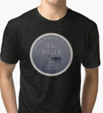 HG Wells Lived Here Tri-blend T-Shirt