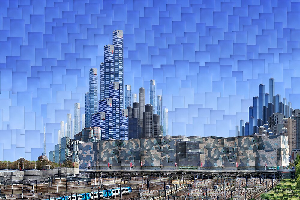 Melbourne 2064 AD: Federation Square by thescatteredimage