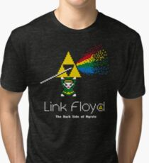 Link Floyd: the Dark Side of Hyrule Tri-blend T-Shirt