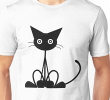 Weird Groovy Cat Unisex T-Shirt