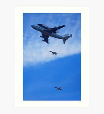"Space Shuttle ""Endeavour"" Flyover Art Print"