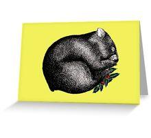 Xmas Wombat  Greeting Card