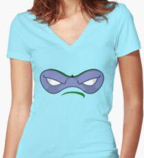 Teenage Mutant Ninja Turtles - DONATELLO MASK Women's Fitted V-Neck T-Shirt
