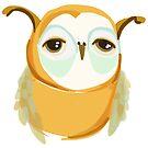 Mustard Owl by annieclayton