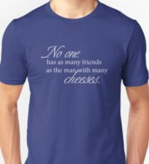 Cheese Friends white for high necked Unisex T-Shirt