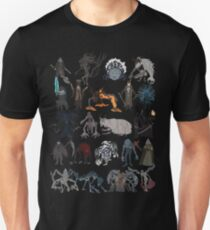 Bloodborne bosses Slim Fit T-Shirt