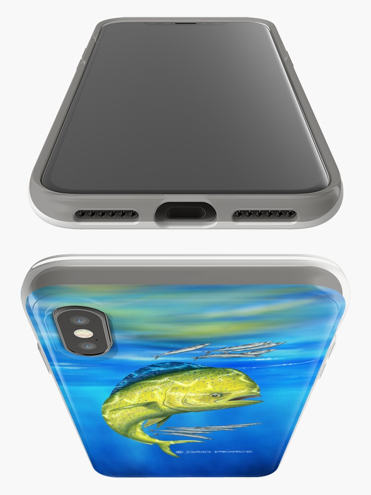Vista alternativa de Funda y vinilo para iPhone Mahi mahi