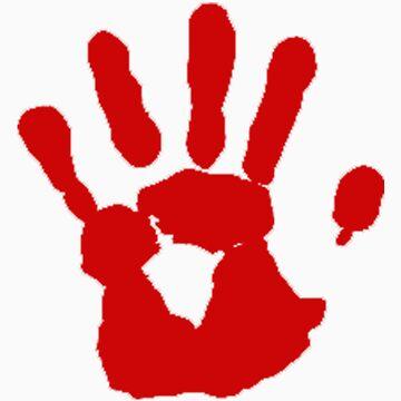 Bloody hand by panzerfreeman