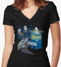 Hedwig Says Who! Women's Fitted V-Neck T-Shirt