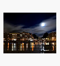 Amstel River Amsterdam moonstruck Photographic Print