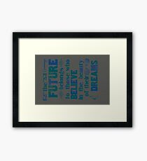 Future - dark blue Framed Print