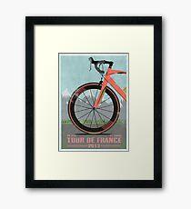 Tour De France Bike Framed Print
