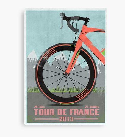 Tour De France Bike Canvas Print