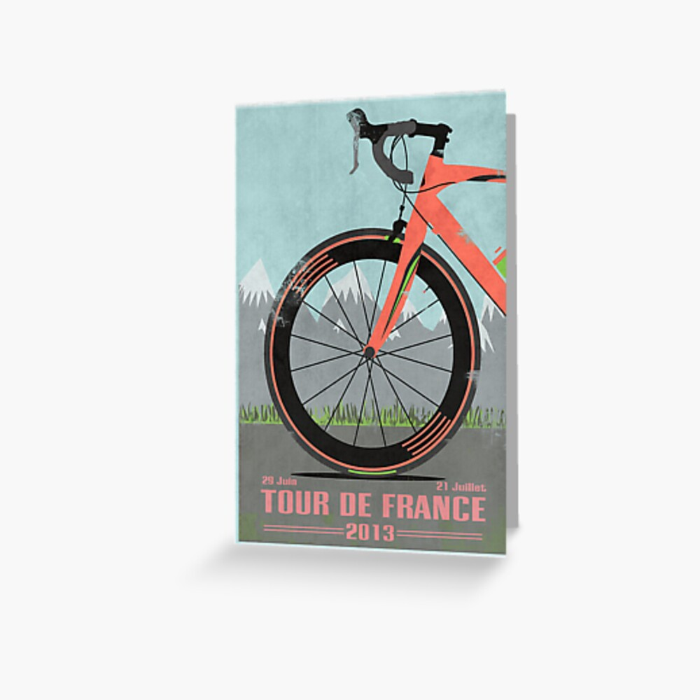 Tour De France Bike Grußkarte