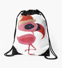 Falalamingo - The Christmas Flamingo Drawstring Bag