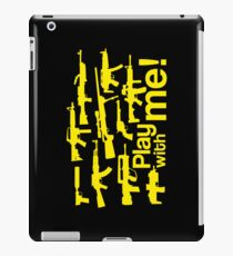 Play with me! - yellow iPad Case/Skin