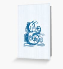 ampersands.. in blue Greeting Card