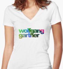 fbb6c151ae7a9f Wolfgang Gartner Women s Fitted V-Neck T-Shirt
