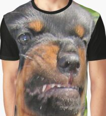 Funny Grumpy Faced Rottweiler Puppy  Graphic T-Shirt
