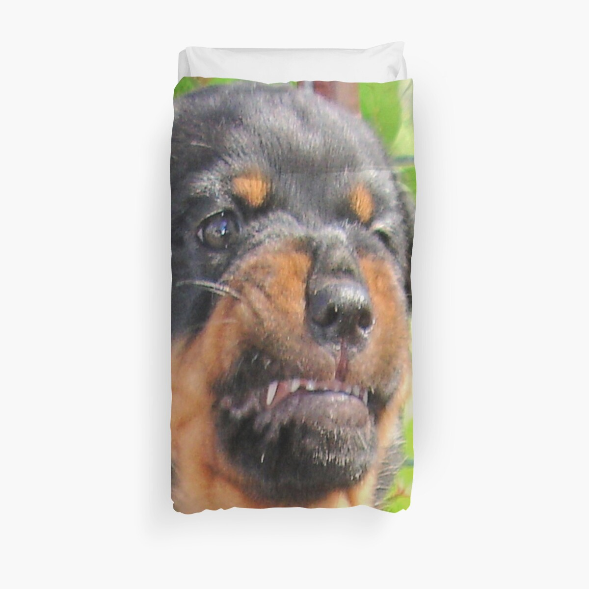 Funny Grumpy Faced Rottweiler Puppy Duvet Covers By Taiche Redbubble