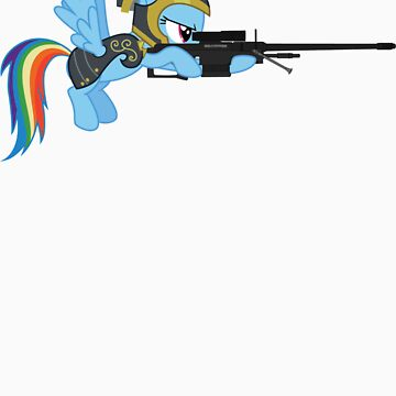 Rainbow Dash with Sniper by IvanSpaceBiker