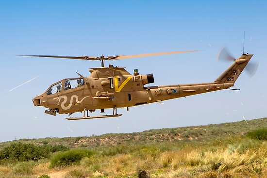 Israeli Air force (IAF) helicopter, Bell AH-1 Cobra in flight by PhotoStock-Isra