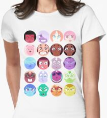 Steven Universe - (Updated) Cast Pattern! Womens Fitted T-Shirt
