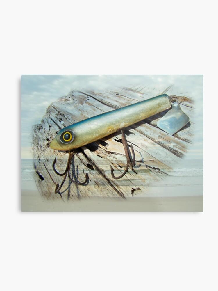 Vintage Saltwater Fishing Lure - Striper X Pert Surf Slapper   Metal Print