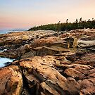 Early Morning Rocky Cliffs, Bar Harbor, Maine by Sarah Van Geest