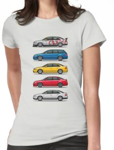 Stack of Audi A4 B5 Type 8d Womens Fitted T-Shirt