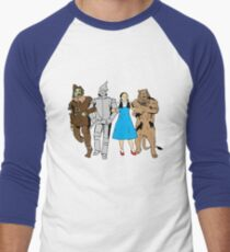 Why does the scarecrow keep saying 'brains'?! Men's Baseball ¾ T-Shirt
