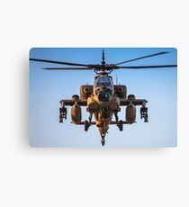 Apache AH-64A (Peten) Helicopter in flight Canvas Print