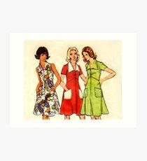 Butterick Pattern 3068 : Circa Late 60's / Early 70's Art Print