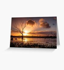 Wetland Sunset Greeting Card