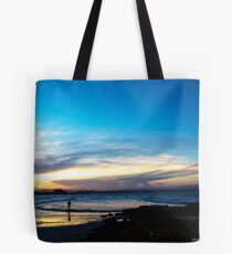Running Into The Sea Tote Bag