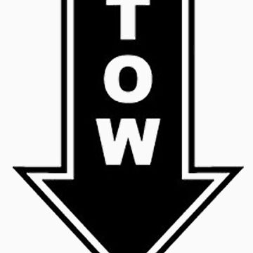 TOW black sticker by thatstickerguy