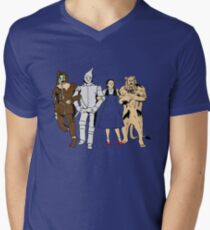 Why does the scarecrow keep saying 'brains'?! BLUE! Men's V-Neck T-Shirt