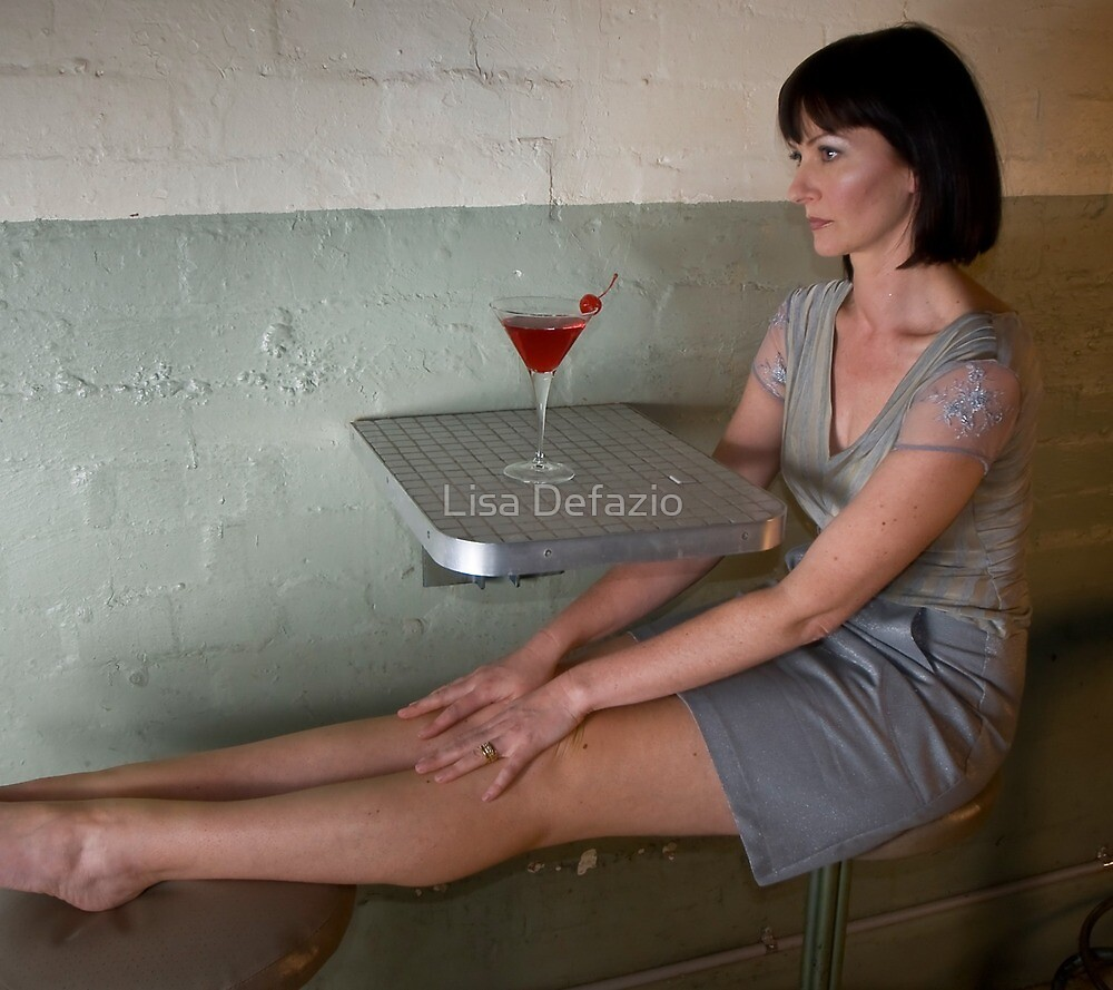 Lisa in 'Lurex thread A line skirt with pockets and fitted Tank with beaded lace Sleeves' by Lisa Defazio
