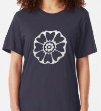 White Lotus Symbol Slim Fit T-Shirt