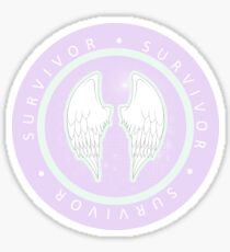 Survivor Angel Wings Sticker