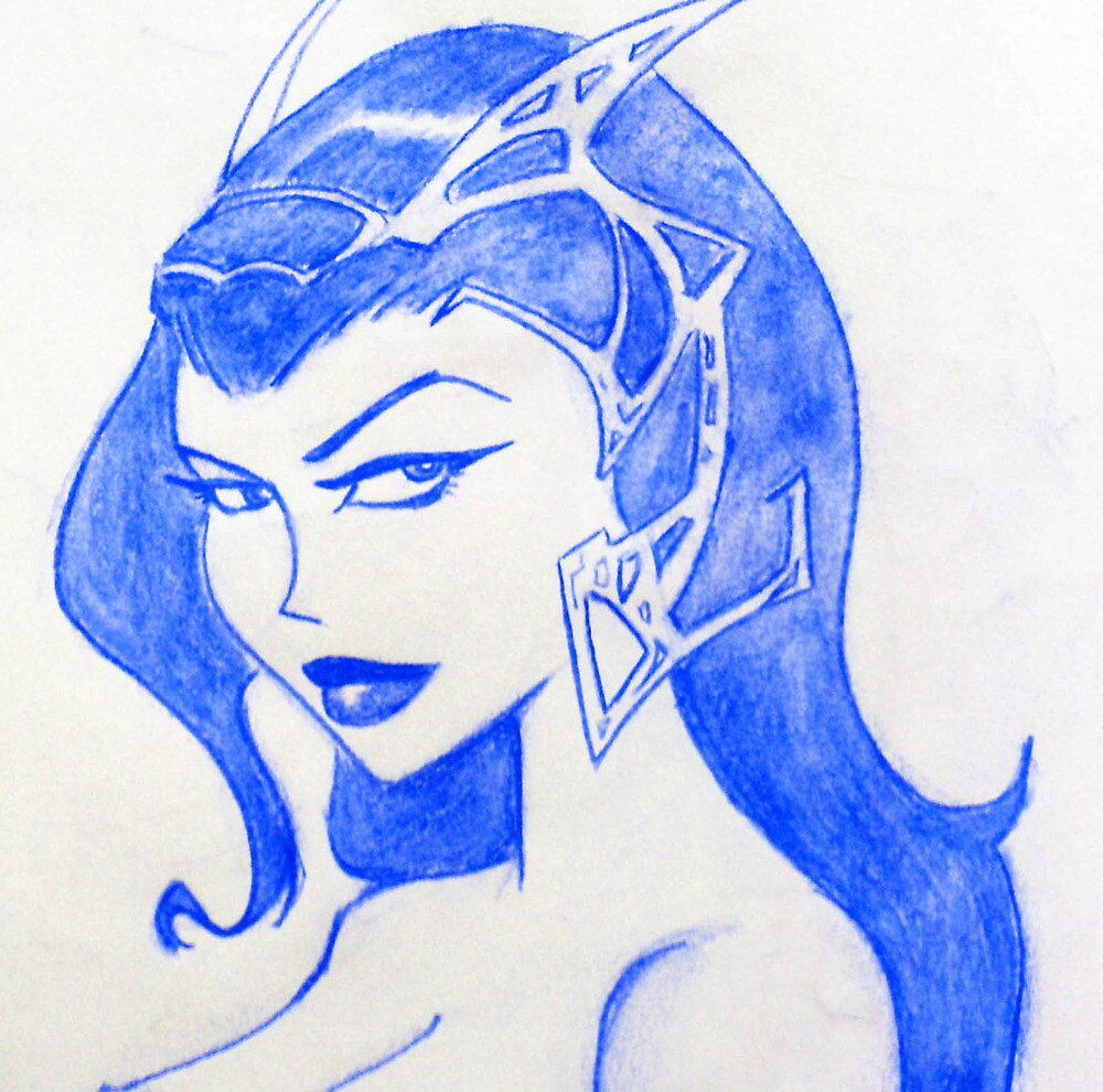 Sexy Blue Princess by brandondraws